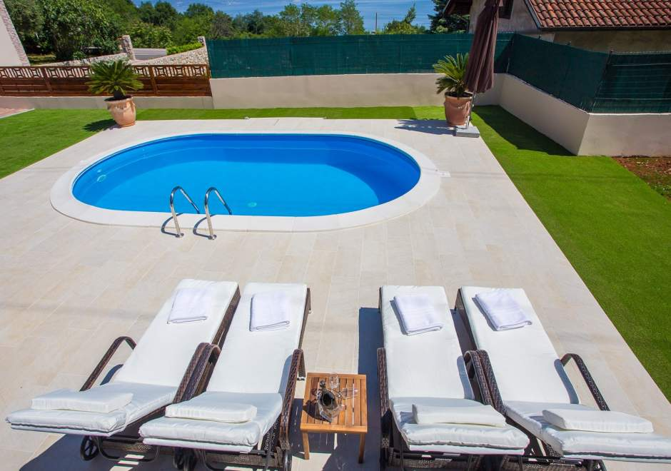 Villa Olive with Pool and Sea View