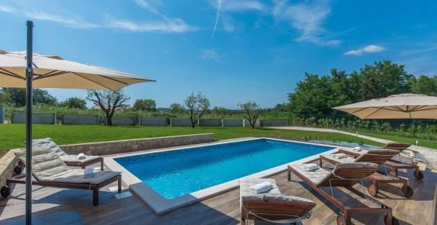 Luxury Villa Terra with private pool in Istria