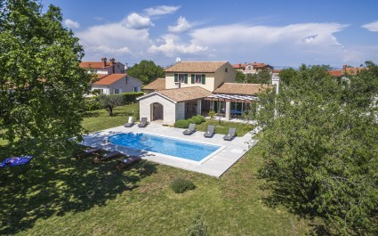 Villa Anita in Hrboki with Private Pool and Fenced Garden