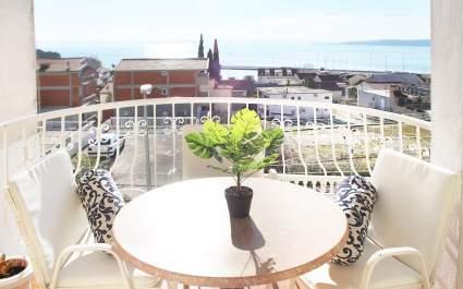 Apartman Mate A2 - Balkon-  Pogled more - Baska Voda