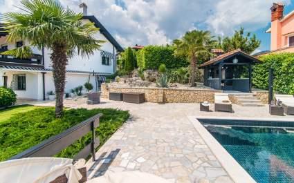 Authentisches Ferienhaus Zatka mit privatem Pool und Meerblick, auf dem Hügel über Opatija