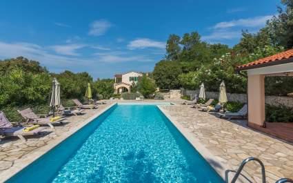 Villa Marina Vlakovo with Shared Pool