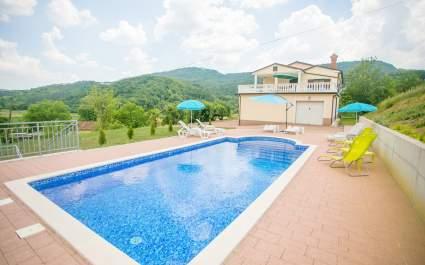 Villa Maria Buzet con piscina privata