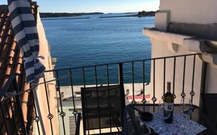 Ferienwohnung Nikola mit Meerblick auf der Porec Promenade